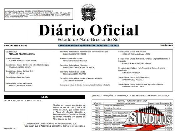 Diário Oficial - Estado MS