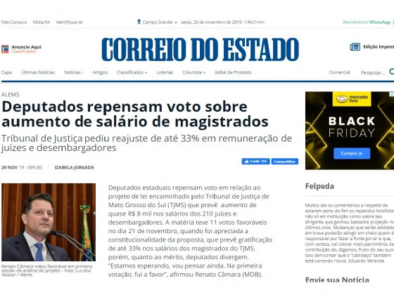 CORREIO DO ESTADO - 29 DE NOV