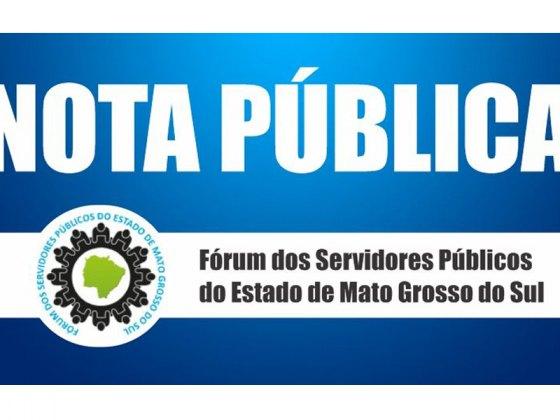 Fórum dos servidores - nota pública